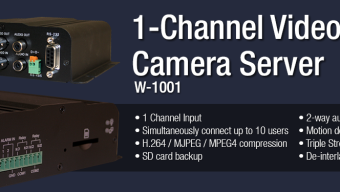 W-1001 – 1-Channel Video Web Camera Server